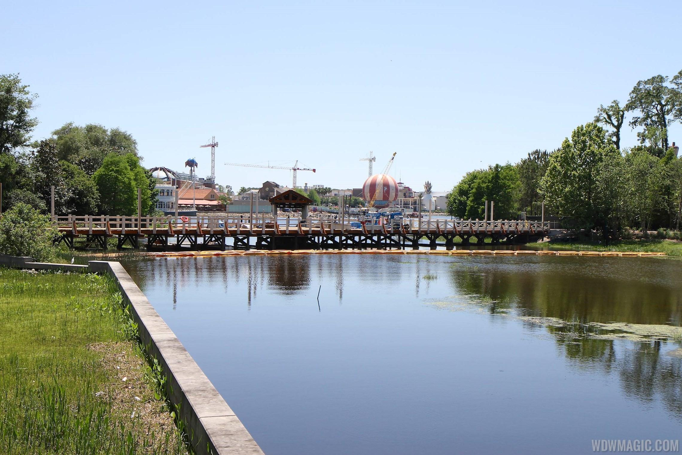 Marketplace to Saratoga Springs Resort bridge and boat dock construction
