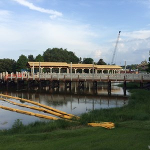 2 of 3: Disney Springs - Marketplace to Saratoga Springs Resort bridge and boat dock construction
