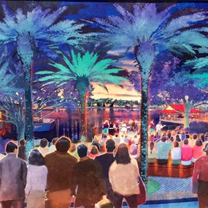 1 of 2: Disney Springs - Concept art for 'The Landing'