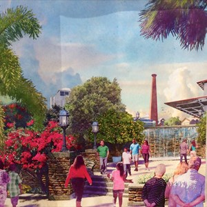2 of 2: Disney Springs - Concept art for 'The Landing'