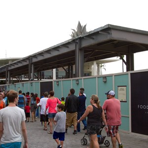 2 of 4: Disney Springs - Food Truck Park elevated highline structure construction