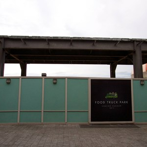 3 of 4: Disney Springs - Food Truck Park elevated highline structure construction