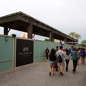 1 of 4: Disney Springs - Food Truck Park elevated highline structure construction