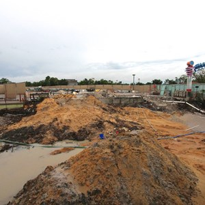 3 of 5: Disney Springs - Waterway removal around Pleasure Island