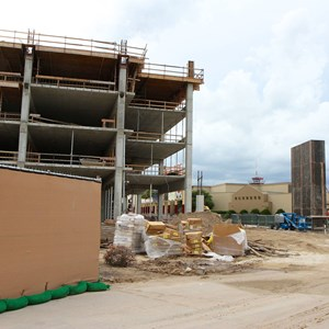 4 of 5: Disney Springs - Disney Springs West Side parking garage construction
