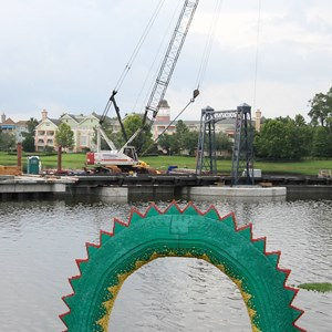 2 of 4: Disney Springs - Marketplace Causeway construction and fountain