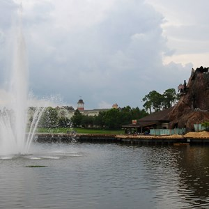 4 of 4: Disney Springs - Marketplace Causeway construction and fountain