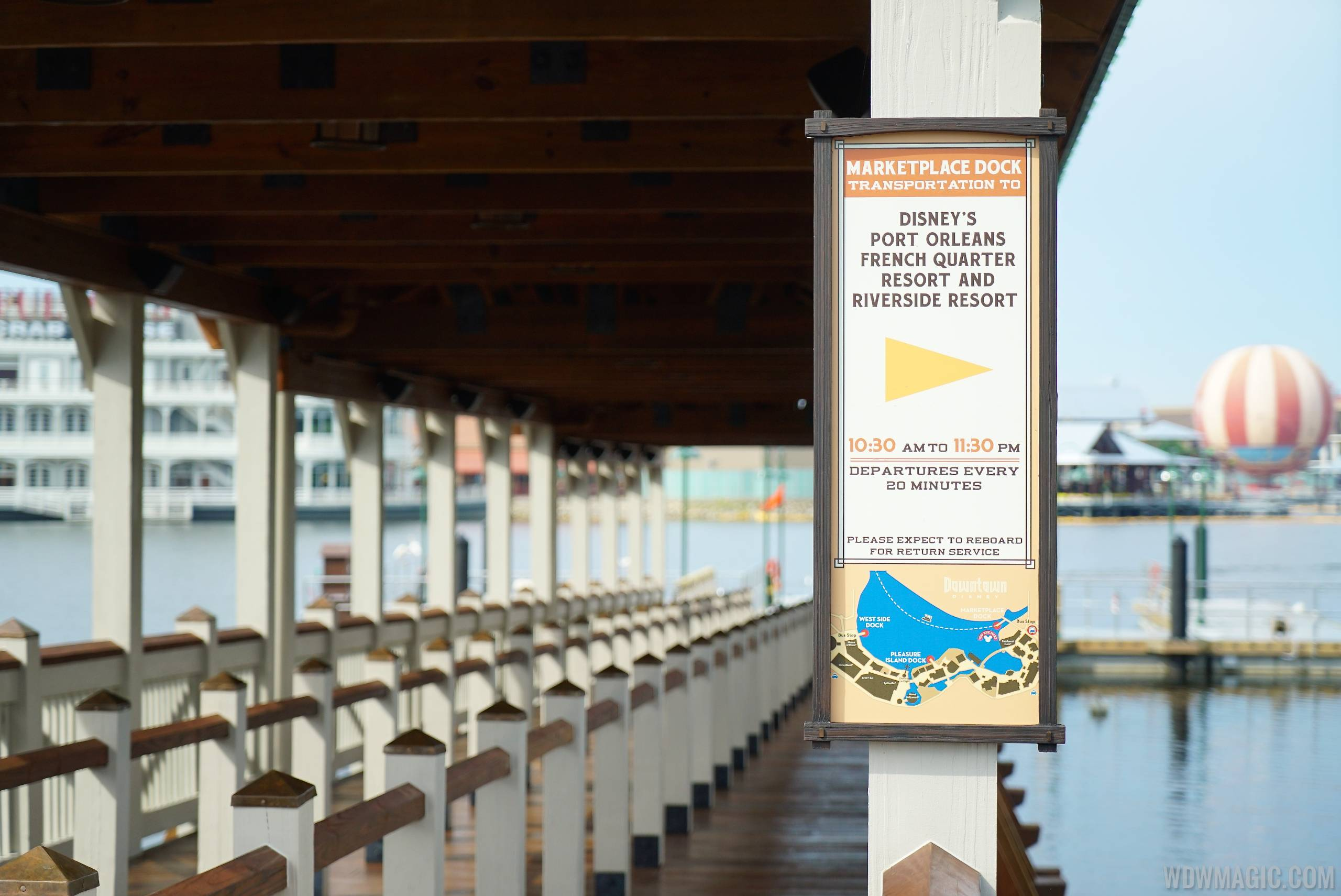 PHOTOS - Disney Springs Marketplace boat dock and walkway to ...