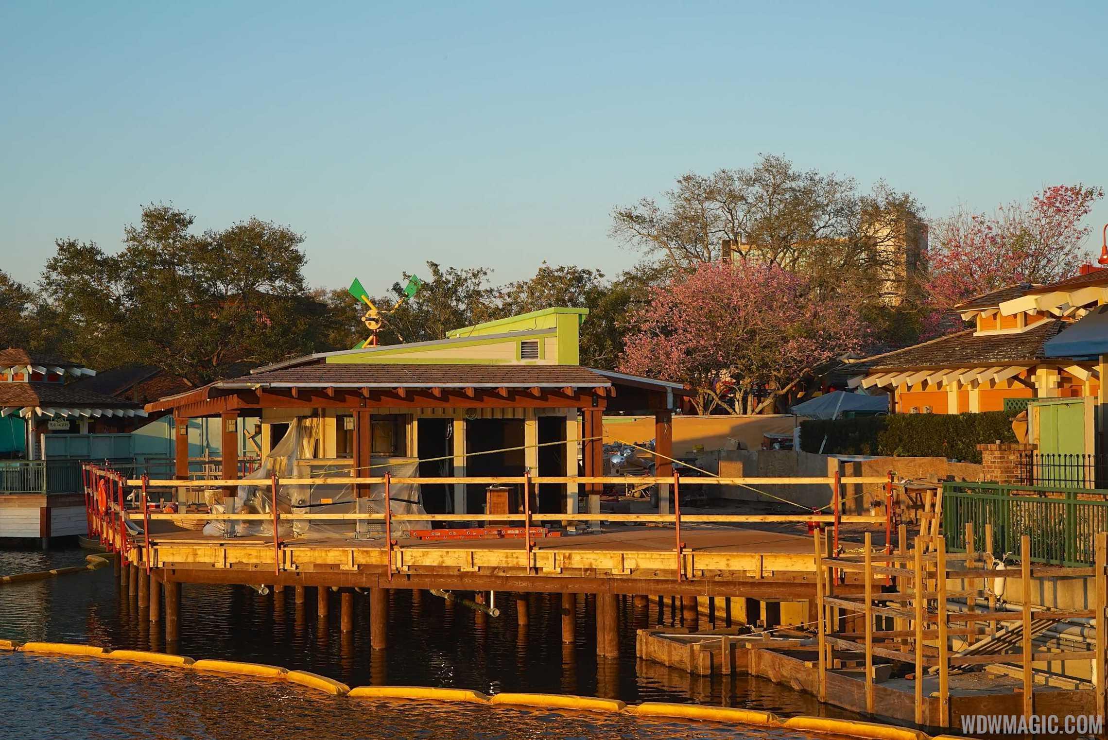 Disney Springs Margarita Bar construction