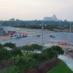 Buena Vista Drive pedestrian bridge installed