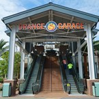 Disney Springs West Side Orange Parking Garage connector opening