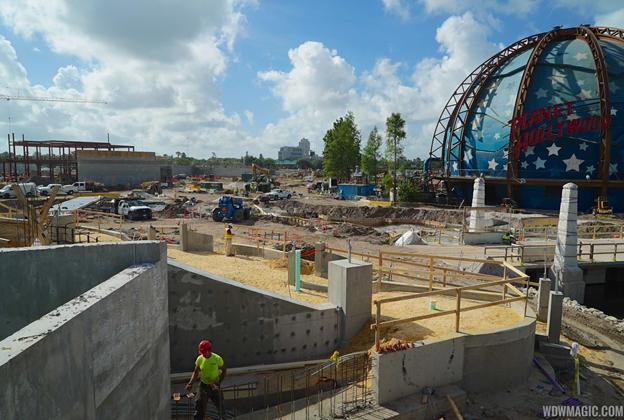 The Springs construction at Disney Springs