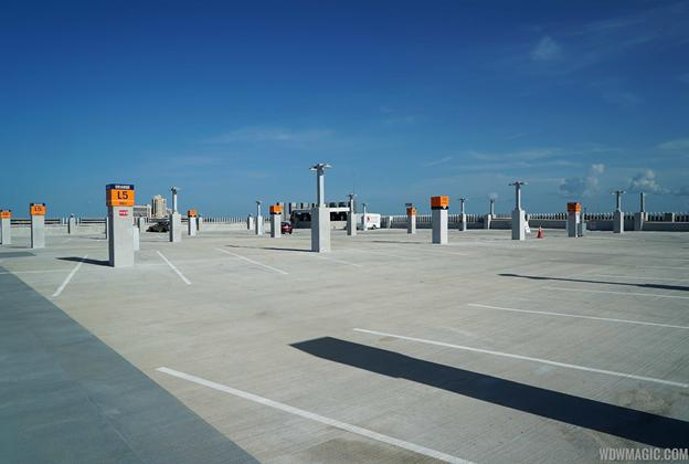 Top floor of the Orange Parking Garage at Disney Springs