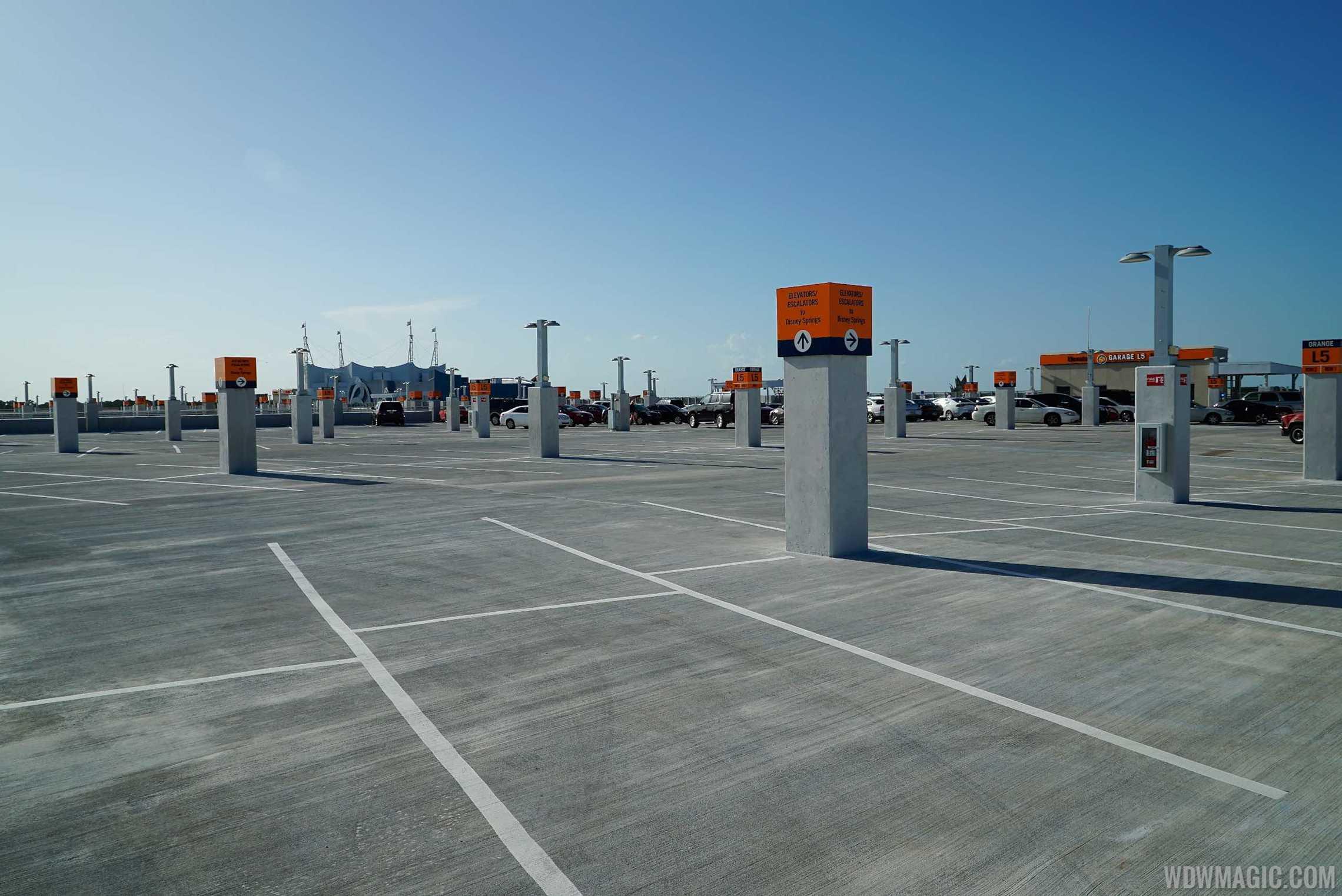 Top Floor at Disney Springs Orange Parking Garage