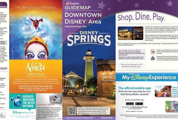 Disney Springs - Downtown Disney Guide Map Aug 2015