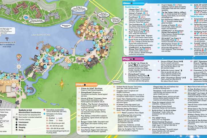 PHOTOS - New Downtown Disney guide map includes Disney Springs name and new restaurants