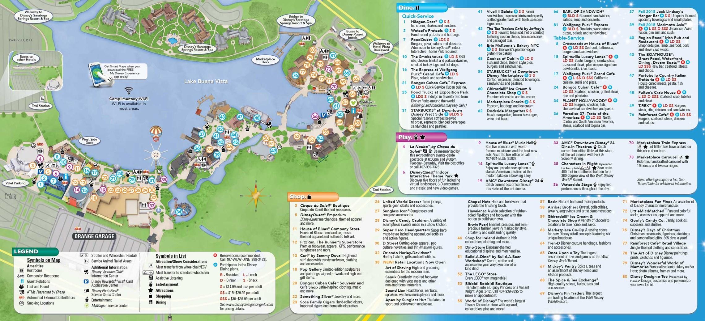 ... 03, 2015. Downtown Disney / Disney Springs August 2015 Guide Map