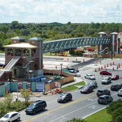 Buena Vista Drive pedestrian bridges construction