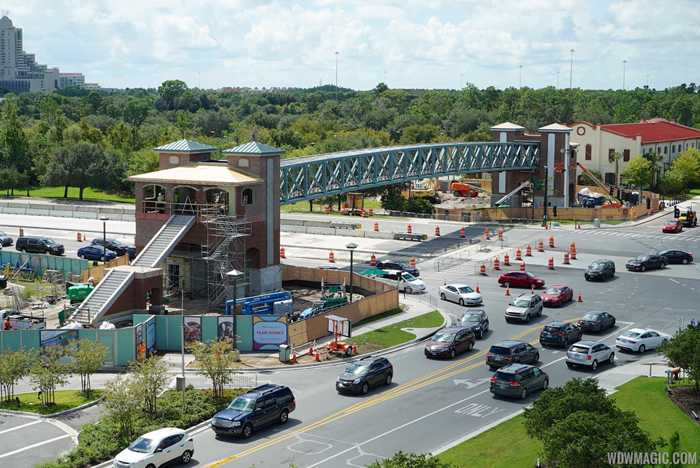 Buena Vista Drive pedestrian bridges construction