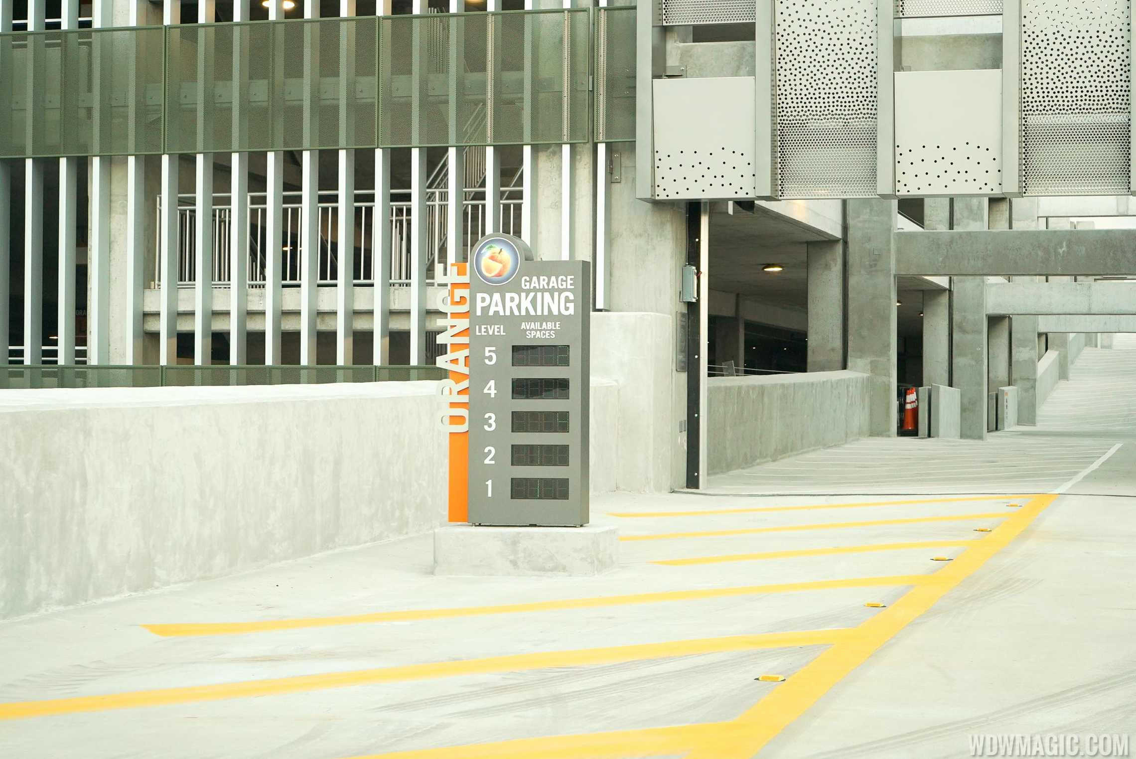 Entrance to L3 of the Orange Parking Garage from the flyover