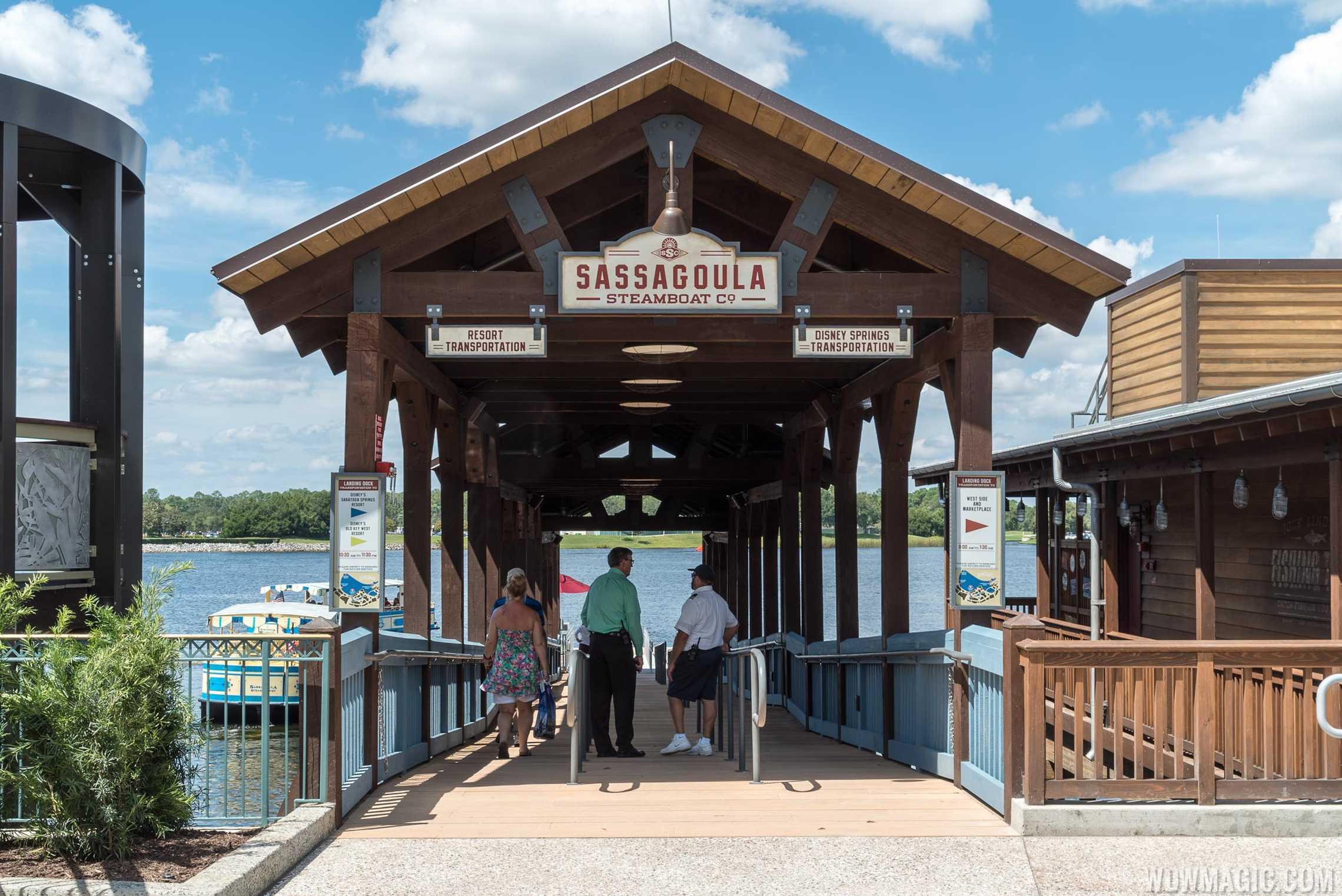 The Landing boat dock