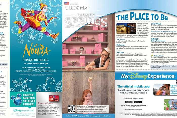 Disney Springs guidemap