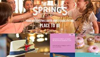 Disney launches a dedicated Disney Springs website to introduce its new identity