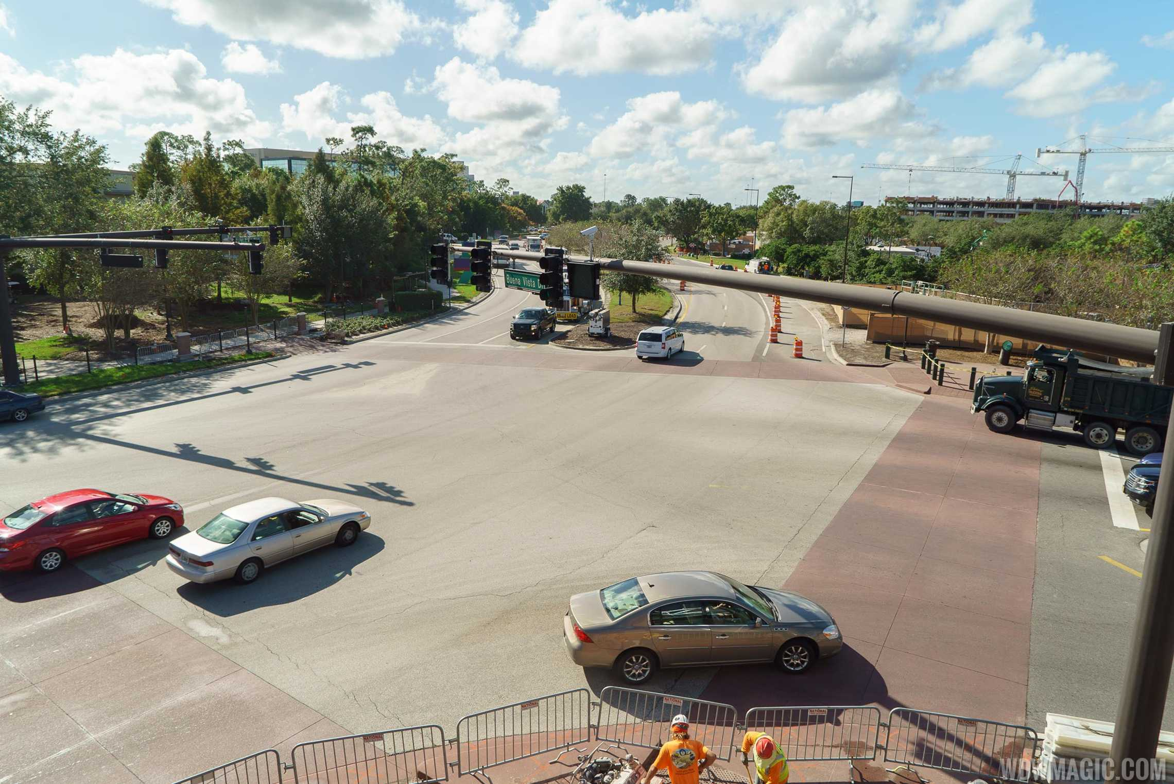View of Buena Vista Drive from the bridge