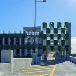 Orange Parking Garage planters