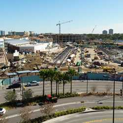 The Town Center construction at Disney Springs