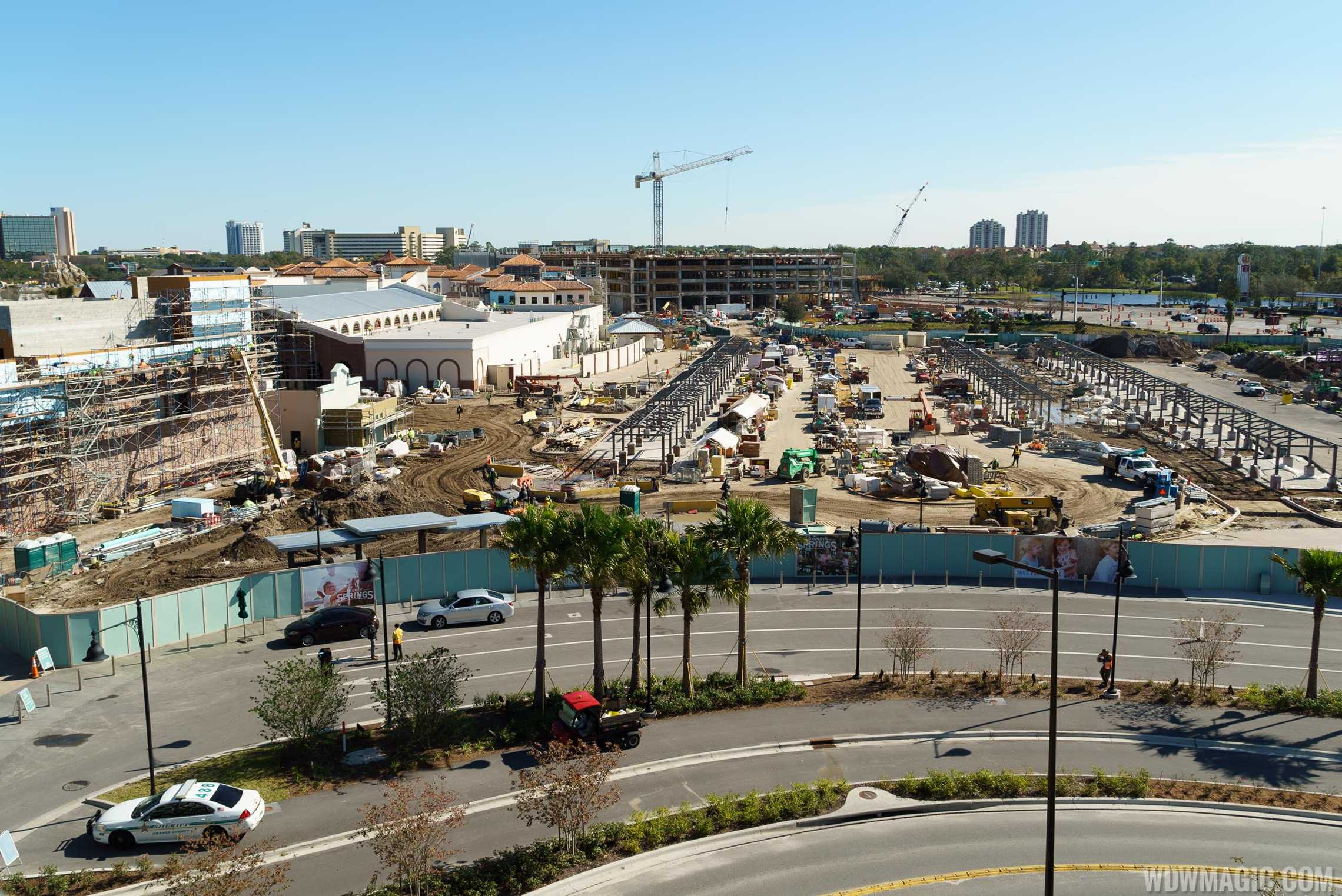 Disney Springs - Wide view of  The Town Center