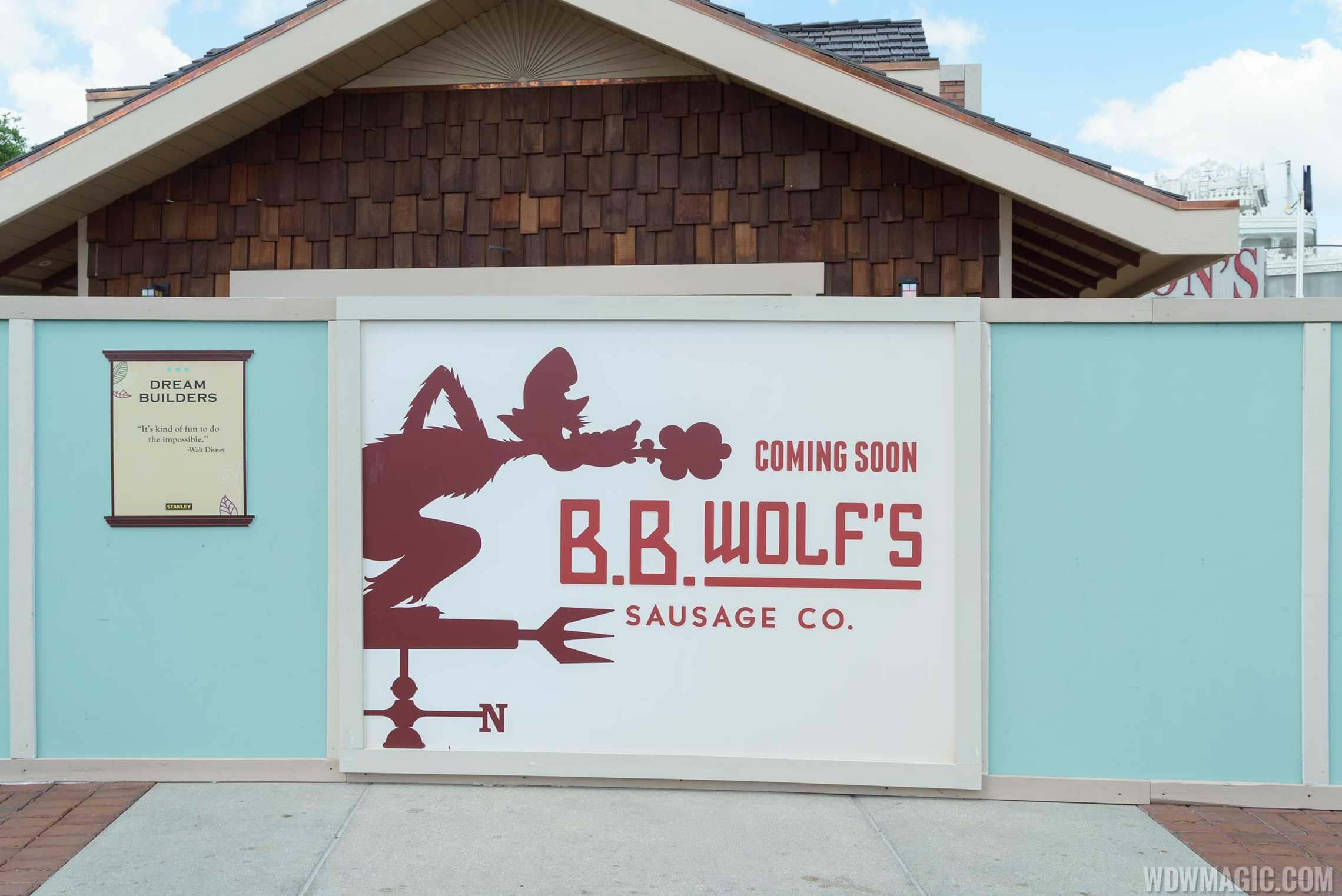 B.B. Wolf's Sausage Co sign