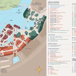 Disney Springs guide map with the Town Center