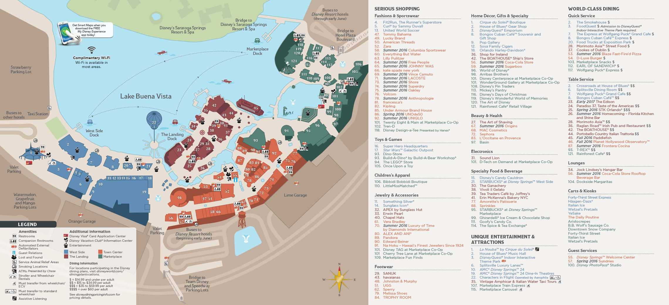 epcot food and wine map with 16may2016 Photos Revised Guide Map Format For Disneys Springs With The Opening Of The Town Center on 16685 additionally 9827 also 15976 additionally 9748 additionally 10919.