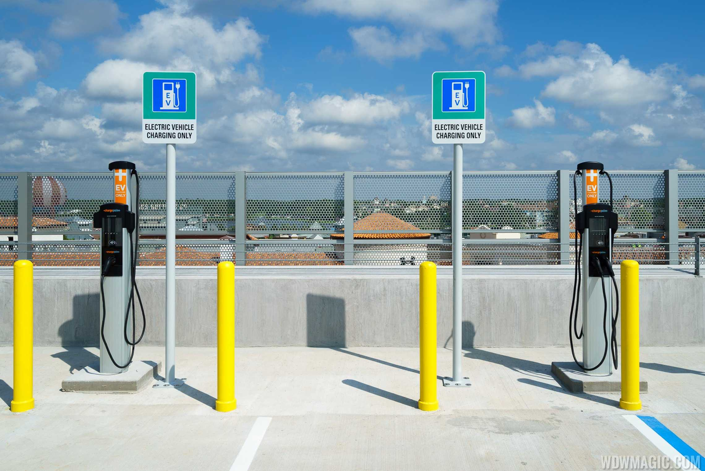 EV chargers at the Lime Garage