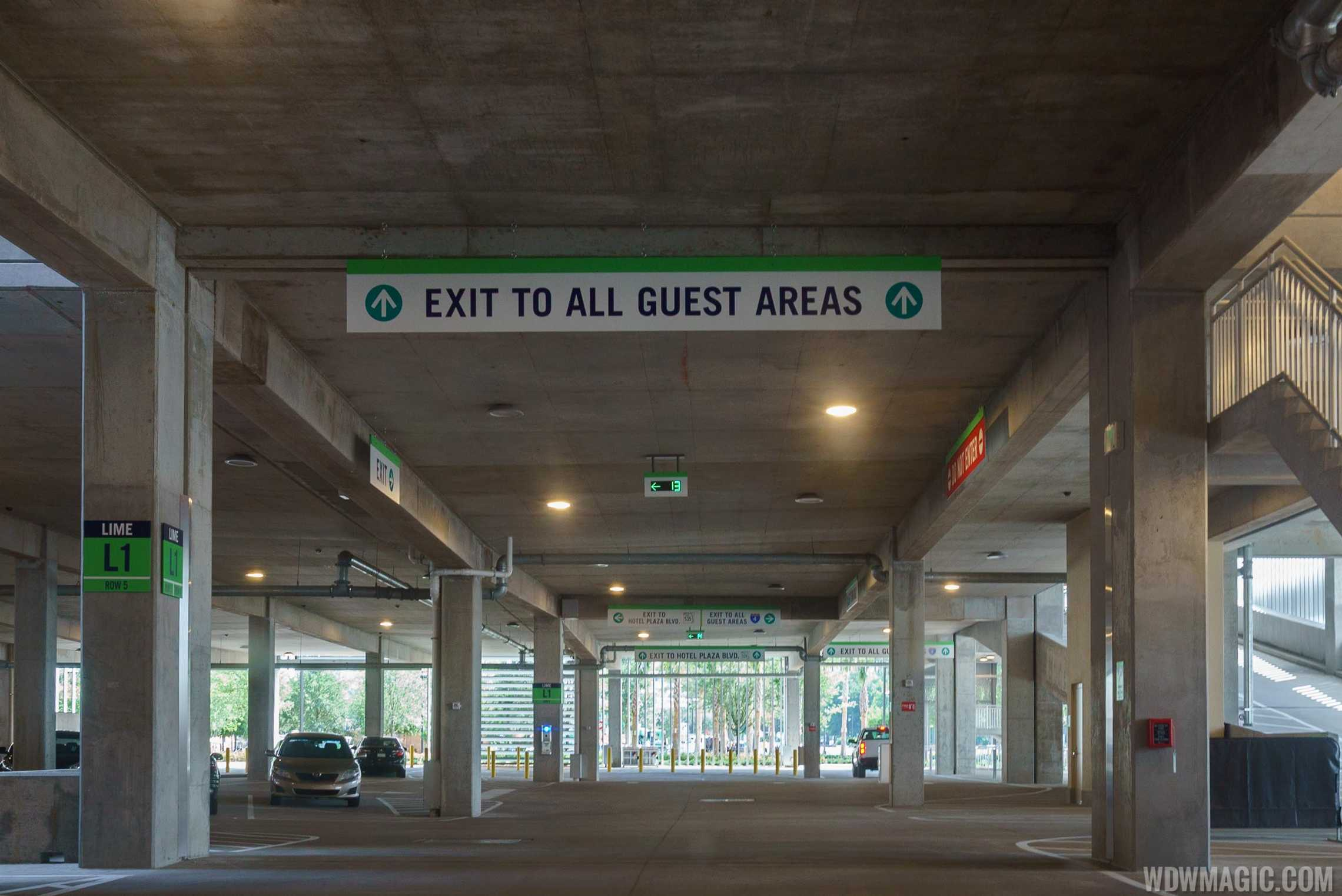 Exit signage from the Lime Garage