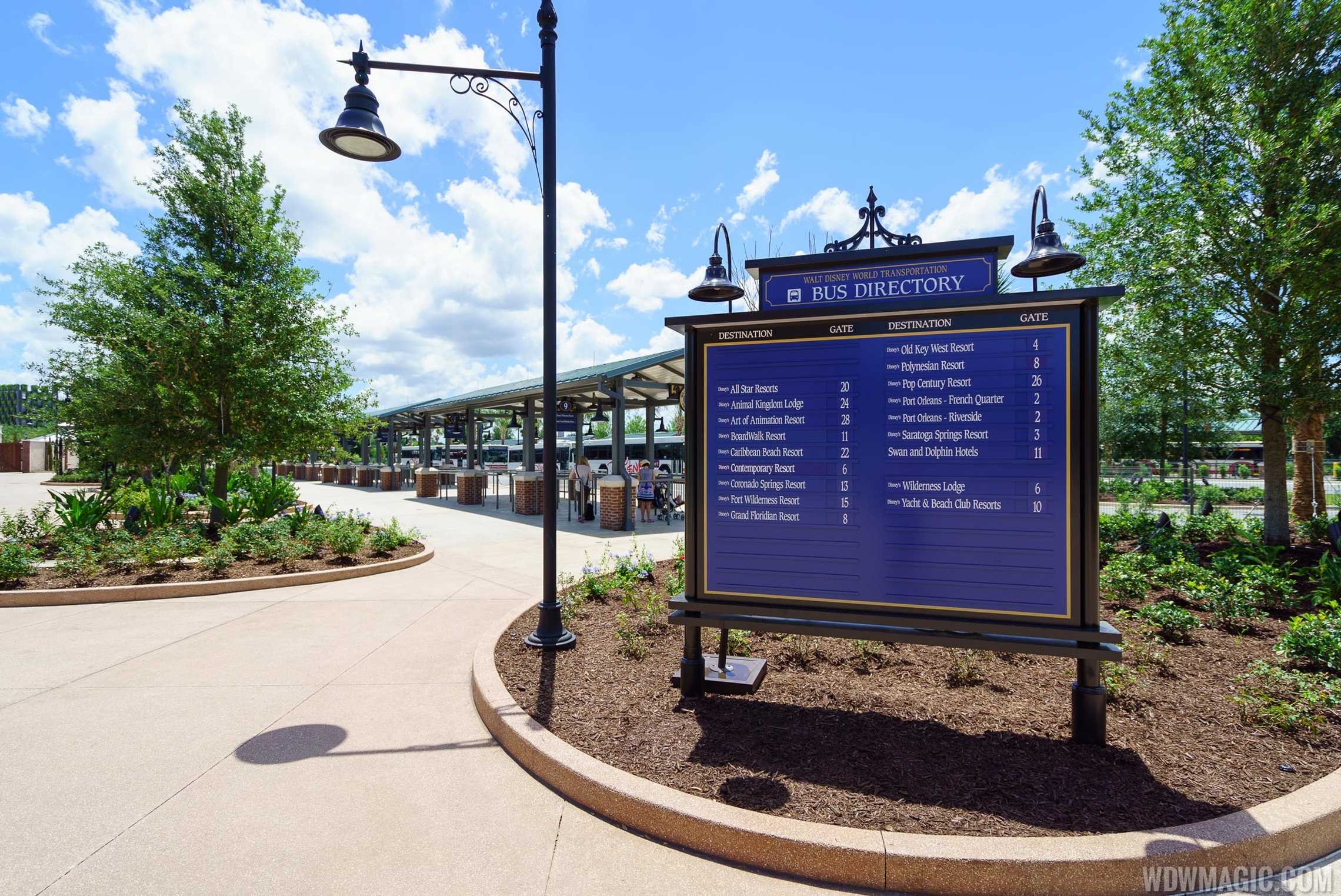 Disney Springs bus terminal entrance from the West Side