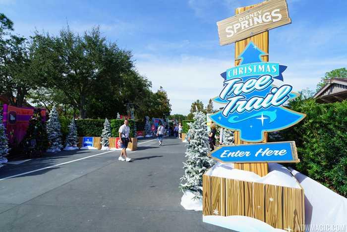 Disney Springs Christmas Tree Trail