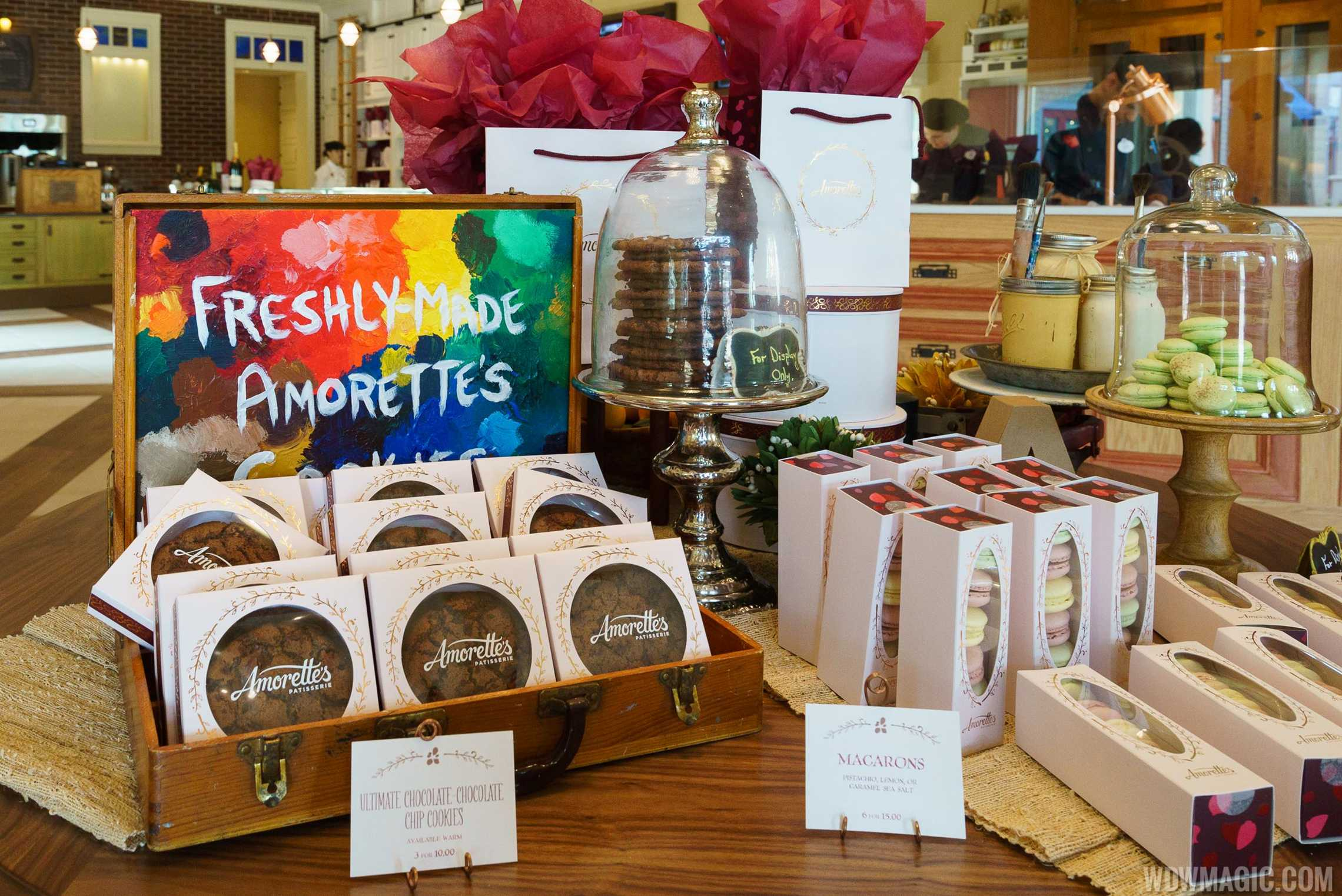 Amorette's Patisserie - Cookies and Macarons display