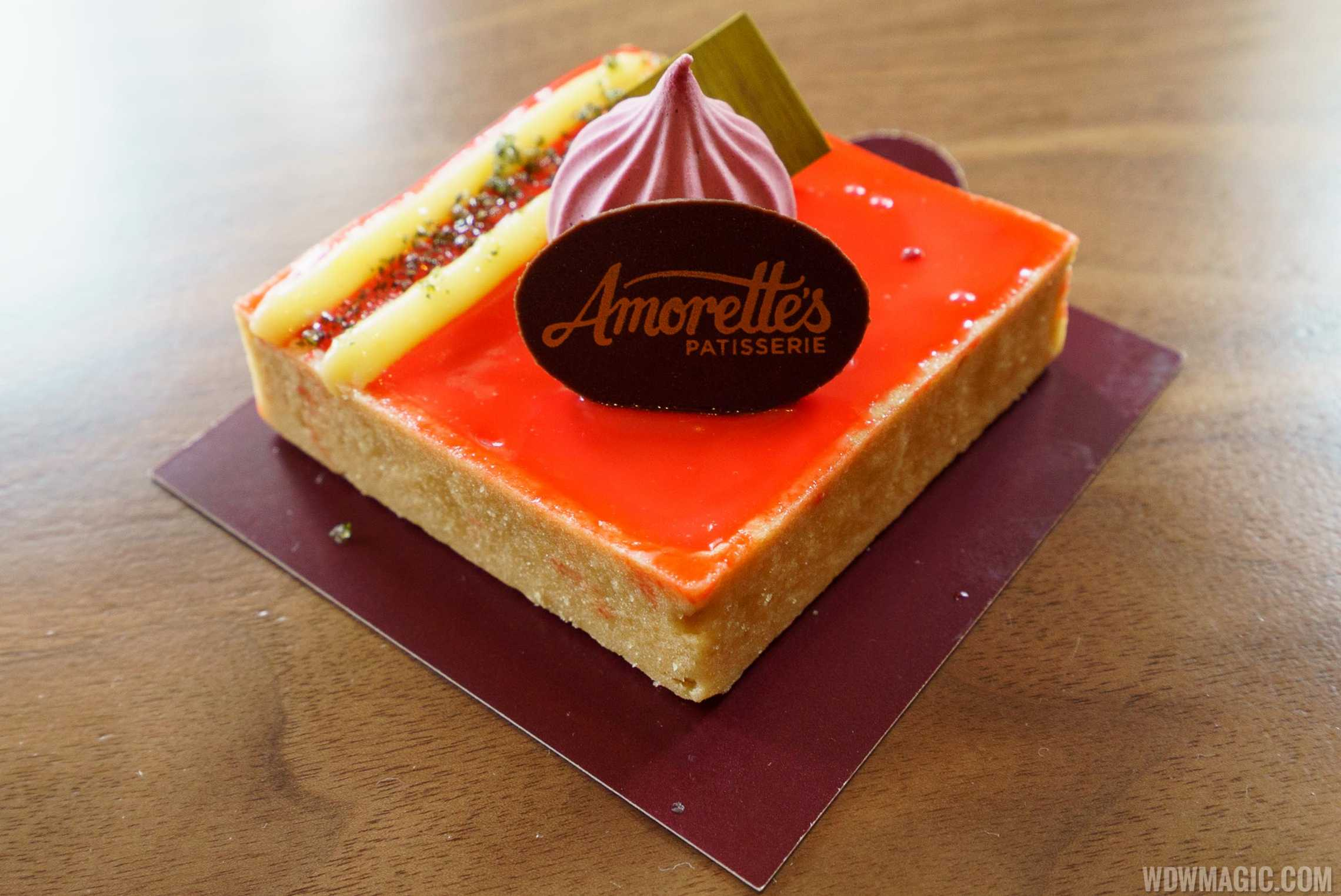 Amorette's Patisserie - Strawberry Fields of OC: Strawberry Mousse, Basil Sugar, and Lemon Curd
