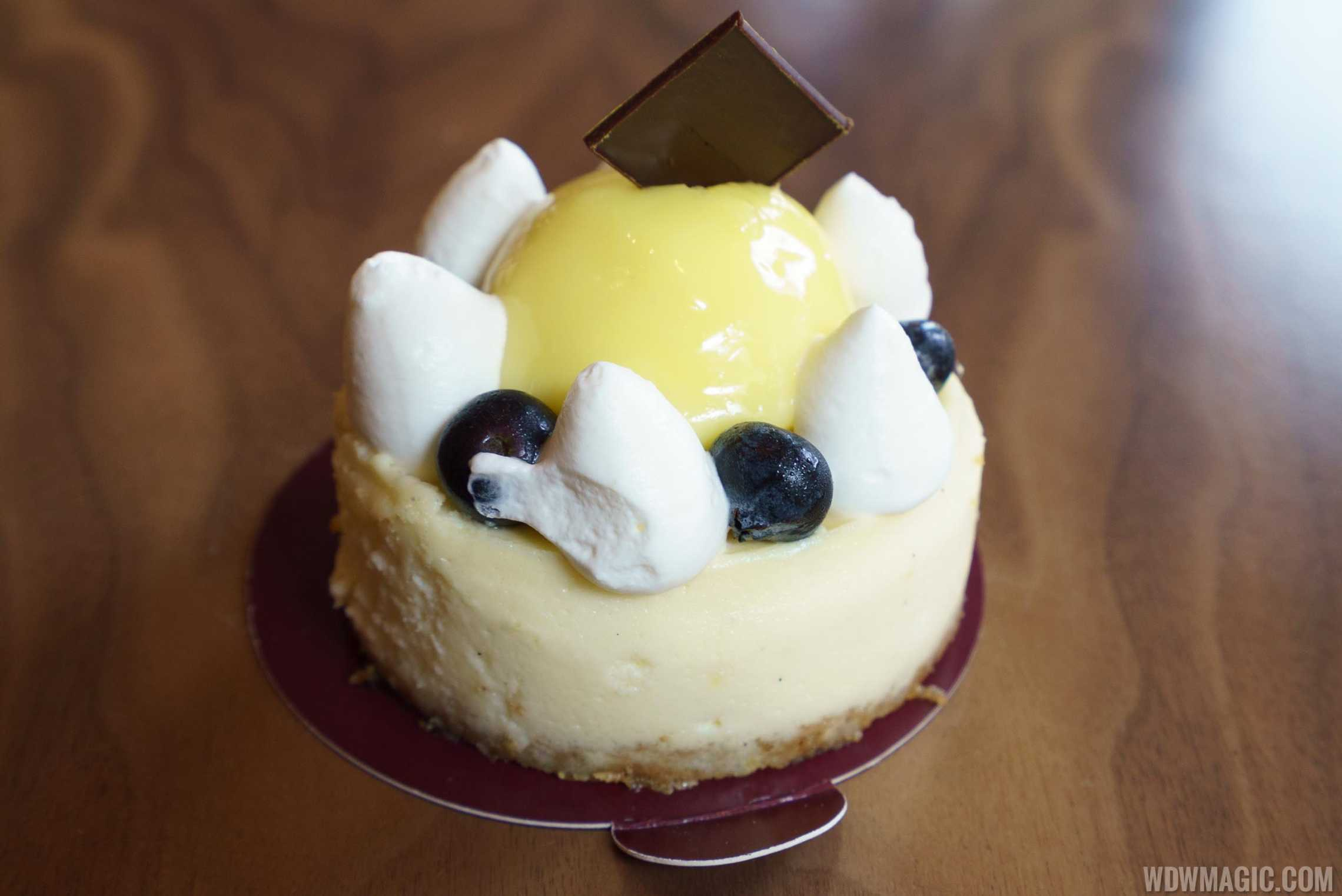 Amorette's Patisserie - 49th and Broadway/N.Y. Cheesecake: Lemon Curd, Blueberries, and Chantilly