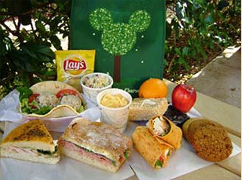 Animal Kingdom Picnic in the Park - Tier 1 features a chicken wrap, ham grinder, tuna pita, or turkey focaccia sandwich.
