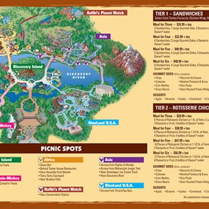 2 of 2: Animal Kingdom Picnic in the Park - Picnic in the Park - Back side. Copyright 2009 The Walt Disney Company.