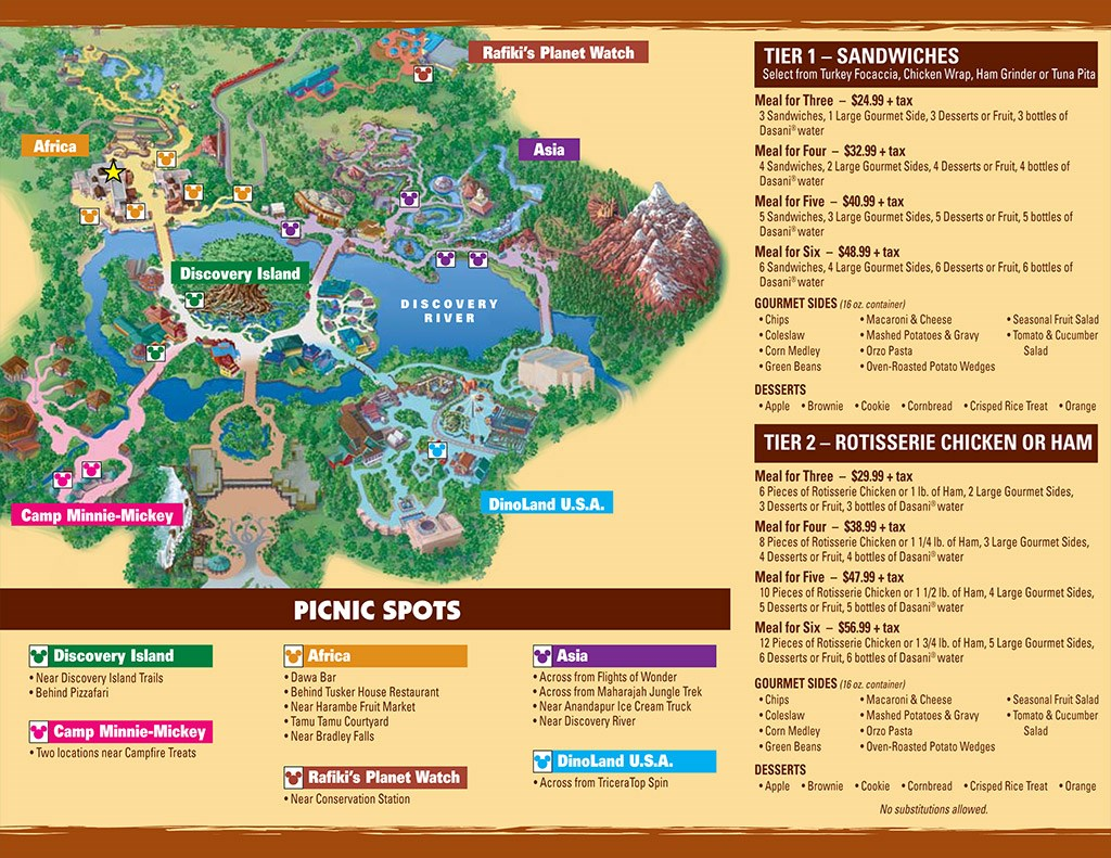 Picnic in the Park guide map and information