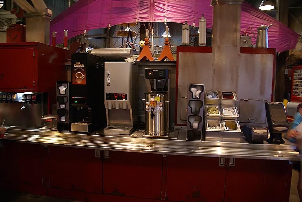 Backlot Express self-serve beverages