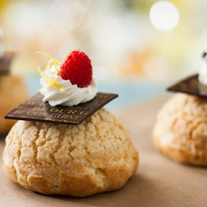 10 of 10: Be Our Guest Restaurant - Be Our Guest Restaurant menu item - Mousse-filled Cream Puffs