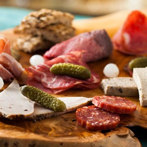 2 of 10: Be Our Guest Restaurant - Be Our Guest Restaurant menu item - assorted cured meats and sausages