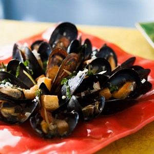4 of 10: Be Our Guest Restaurant - Be Our Guest Restaurant menu item - Mussels Provencal
