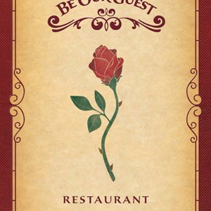 1 of 3: Be Our Guest Restaurant - Be Our Guest Restaurant dinner menu front cover