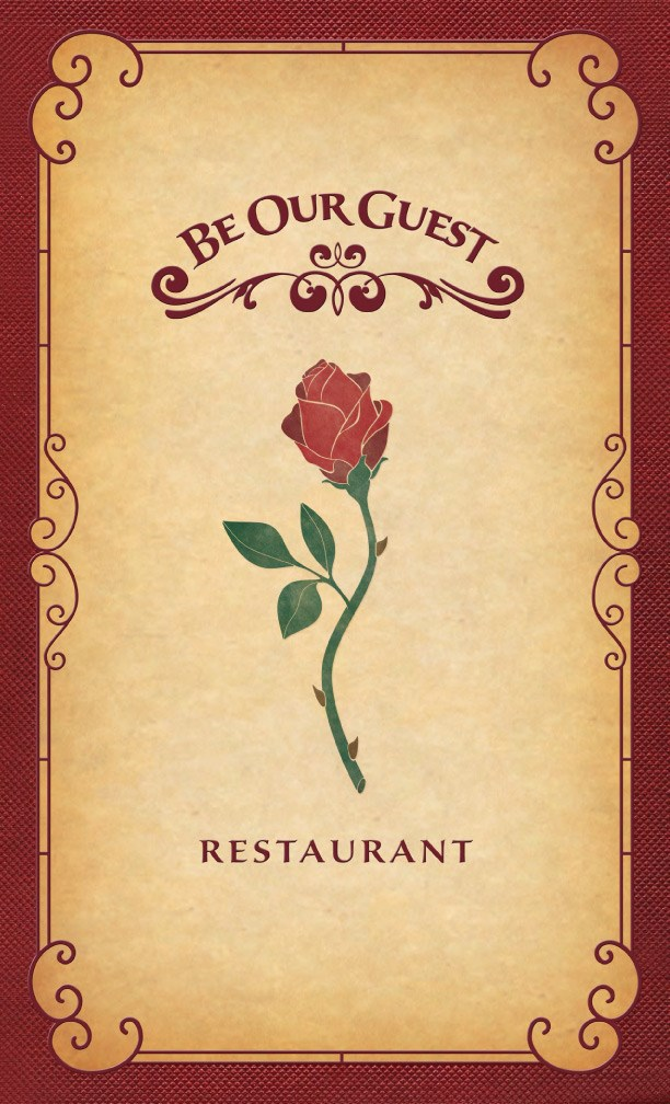 Be Our Guest Restaurant - Be Our Guest Restaurant dinner menu front cover